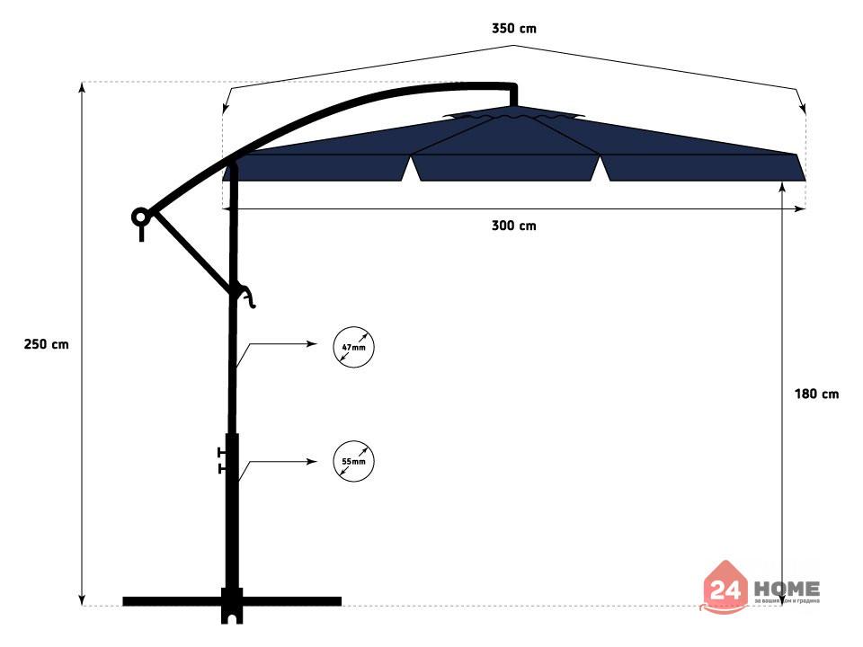 Свободновисящ-чадър-за-слънце-SUNNY-300-см-тъмно-син-82_14
