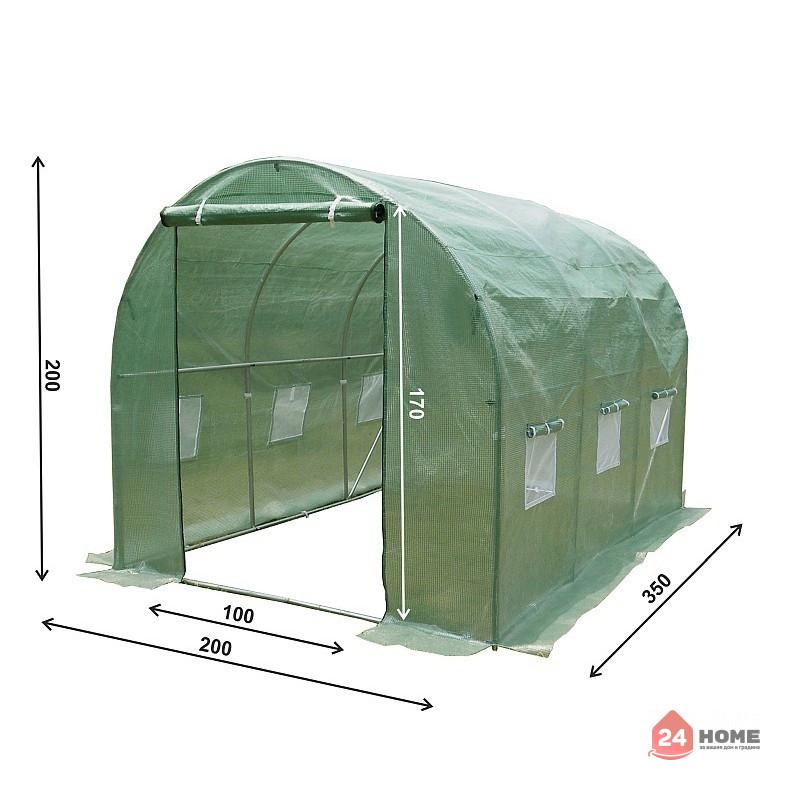 Оранжерия-SUNNY-7m2-premium-зелена-2x35m